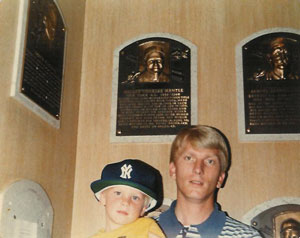 David and Dad at Hall of Fame